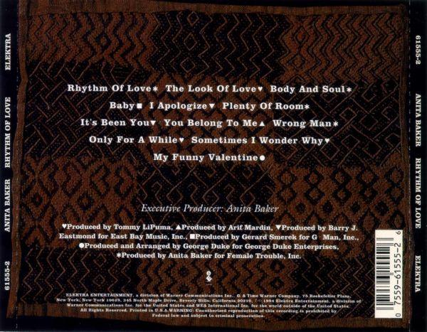 Anita Baker Rhythm Of Love 1994